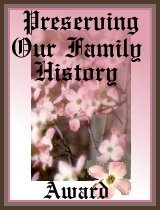 Preserving Our Family History Award